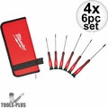 Milwaukee 48-22-2610 6pk TORX Precision Screwdriver Set w/ Case 4x