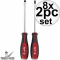 Milwaukee 48-22-2702-8 2pc Demo Drivers w/ Steel Caps Set
