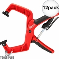 "Milwaukee 48-22-3004 4"" Plus Stop Lock Hand Clamp with Durable Grip 12x"