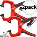 "Milwaukee 48-22-3004 4"" Plus Stop Lock Hand Clamp with Durable Grip 2x"