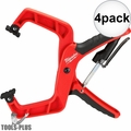 "Milwaukee 48-22-3004 4"" Plus Stop Lock Hand Clamp with Durable Grip 4x"