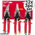 Milwaukee 48-22-4533 3 PC Aviation Snip Set 12x