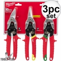 Milwaukee 48-22-4533 3 PC Aviation Snip Set