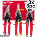 Milwaukee 48-22-4533 3 PC Aviation Snip Set 3x
