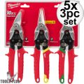 Milwaukee 48-22-4533 3 PC Aviation Snip Set 5x