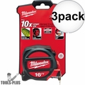 Milwaukee 48-22-5117 16' Tape Measure 3x