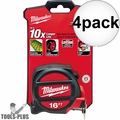 Milwaukee 48-22-5117 16' Tape Measure 4x