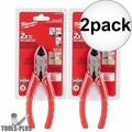 "Milwaukee 48-22-6106 6"" Diagonal Cutting Pliers 2x"