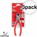 "Milwaukee 48-22-6106 6"" Diagonal Cutting Pliers 3x"