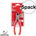 "Milwaukee 48-22-6106 6"" Diagonal Cutting Pliers 5x"