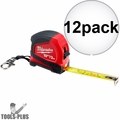 Milwaukee 48-22-6601 10'/3m Keychain Tape Measure with LED 12x