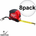Milwaukee 48-22-6601 10'/3m Keychain Tape Measure with LED 8x