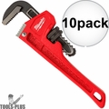 "Milwaukee 48-22-7106 10x 6"" Steel Pipe Wrench with 3/4"" Jaw Capacity"