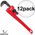 "Milwaukee 48-22-7118 12x 18"" Steel Pipe Wrench with 2.5"" Jaw Capacity"