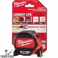 Milwaukee 48-22-7125 25' Magnetic Hook tape Measure w/ Finger Stop