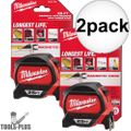 Milwaukee 48-22-7125 25' Magnetic Hook tape Measure w/ Finger Stop 2x