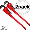"Milwaukee 48-22-7148 48"" Steel Pipe Wrench with 6"" Jaw Capacity 2x"