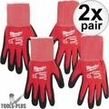 Milwaukee 48-22-8900 Pair Cut Level 1 Dipped Work Gloves - Small 2x