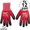 Milwaukee 48-22-8902 12pk Cut Level 1 Dipped Word Gloves - Large 4x