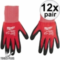 Milwaukee 48-22-8903 12x Cut Level 1 Dipped Gloves - X Large