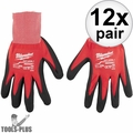 Milwaukee 48-22-8904 12x Cut Level 1 Dipped Word Gloves - 2X-Large