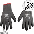 Milwaukee 48-22-8952 Cut Level 5 Dipped Gloves Large BEST Oyster Clam Glove
