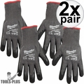 Milwaukee 48-22-8952 Cut Lvl 5 Dipped Gloves Large BEST Oyster Clam Glove 2x