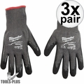 Milwaukee 48-22-8953 Cut Lvl 5 Dipped Glove XLarge BEST Oyster Clam Glove 3x