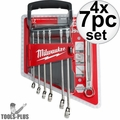 Milwaukee 48-22-9507 7pc Combination Wrench Set - Metric 4x