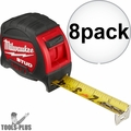 Milwaukee 48-22-9925 25' STUD Tape Measure 8x