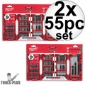 Milwaukee 48-32-4014 2x 55pc Shockwave Impact Duty Driver Bit Set