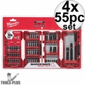 Milwaukee 48-32-4014 4x 55pc Shockwave Impact Duty Driver Bit Set