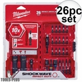 Milwaukee 48-32-4408 26pc Shockwave Impact Drive & Fasten + Bit Holder