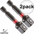 "Milwaukee 48-32-5031 1/4"" Hex Shank to 3/8"" Socket Adapter 2x"