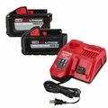 Milwaukee 48-59-1200P M18~M12 Rapid Charger 2 Red Lithium H-OUTPUT Batteries