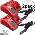 Milwaukee 48-59-1810 M18 / M12 Vehicle Cordless Battery Charger 2x