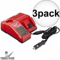 Milwaukee 48-59-1810 3x M18 / M12 Vehicle Cordless Battery Charger