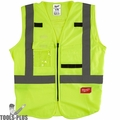 Milwaukee 48-73-5022 High Visibility Yellow Safety Vest - Large/X-Large
