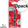 "Milwaukee 48-89-9243 SHOCKWAVE Impact Duty Step Bit #3 3/16 - 3/4"" 3x"