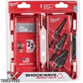 Milwaukee 48-89-9257 SHOCKWAVE Impact Step Bit Electrician Set (#1, #4, #9)