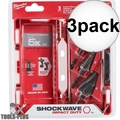 Milwaukee 48-89-9257 SHOCKWAVE Impact Step Bit Electrician Set (#1,#4,#9) 3x