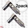 Milwaukee 49-16-2648 Right Angle Grease Coupler 2x