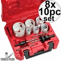 Milwaukee 49-22-4095 10pc Electricians Hole Dozer Hole Saw Kit 8x