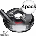 "Milwaukee 49-40-6105 7"" ""Universal"" Surface Grinding Dust Shroud 4x"