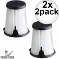 Milwaukee 49-90-1950 HEPA Filter Replacement for 0850-20 Compact VAC 2x 2pk