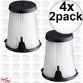 Milwaukee 49-90-1950 2pk HEPA Filter Replacement for 0850-20 Compact VAC 4x