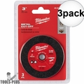 "Milwaukee 49-94-3000 3"" Metal Cut Off Wheel 1x 3pk"