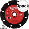 "Milwaukee 49-94-3005 3"" Carbide Abrasive Blade 3x"
