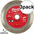"Milwaukee 49-94-3010 3"" Diamond Tile Blade 3x"