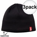 Milwaukee 502B Black Fleece Lined Beanie 3x
